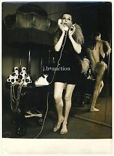 Mode NUDE rear view as ad for Munich boutiques fashion * vintage 60s press photo