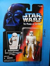 STORMTROOPER 1995 STAR WARS POWER OF FORCE RED CARD KENNER MOC FREE S3
