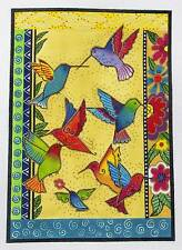 SP.ORDER ~ Laurel Burch Rainbow Hummingbirds handpaint Needlepoint Canvas Danji