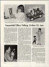 1967 PAPER AD GI Joe Crash Crew Fire Truck Pull Dog Tag Article Hasbro Nurse