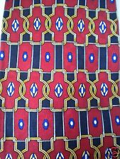 Flying Scotsman Geometric Neck Tie 100% Silk Made in USA Red Black Blue Yelllow