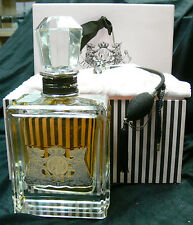 """JUICY COUTURE 20 oz PERFUME COLLECTORS SIZE: 11""""HIGH,5 1/2 """" LONG.3 1/2 """" WIDE"""