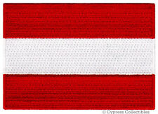 AUSTRIA FLAG embroidered iron-on PATCH AUSTRIAN EMBLEM souvenir applique vienna