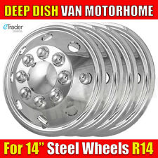 "14"" 14 Inch Van Chrome Wheel Trims Ford Transit Deep Dish Hub Caps Cap Quality 4"