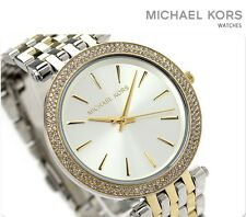 NEW MICHAEL KORS  SILVER DIAL TWO-TONE STAINLESS STEEL LADIES WATCH MK3215