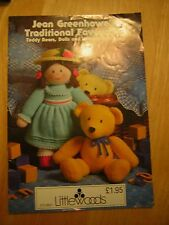 JEAN GREENHOWE KNITTING TOY PATTERN BOOK TOY COLLECTION ,