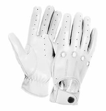 NEW CHAUFFEUR MENS SOFT SHEEP LEATHER DRIVING GLOVES DRESS VINTAGE CLASSIC RETRO
