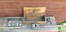Antique Armstrong No.2 Wood Box Stock & Die Pipe Threader Set, Bridgeport Conn