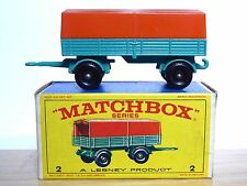 Matchbox Lesney No.2d Mercedes Covered Trailer In Type 'E4' Series Box (MINT!)