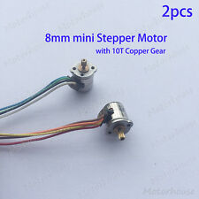 2pcs 2-phase 4-wire Micro 8mm stepping motor Mini stepper Motor Metal Gear