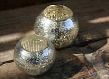 1 Antique Silver Mercury Glass Tea Light Holder Vintage Candle Holder Inga Nkuku