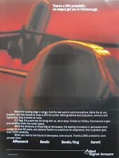 8/1991 PUB ALLIED SIGNAL BENDIX KING AEROSPACE GARRETT BOEING 747 ORIGINAL AD