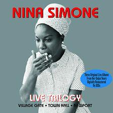 Nina Simone - Live Trilogy - Three Original Live Albums (3CD 2013) NEW/SEALED