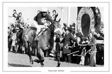 TOMMY STACK RED RUM GRAND NATIONAL SIGNED AUTOGRAPH PRINT HORSE RACING