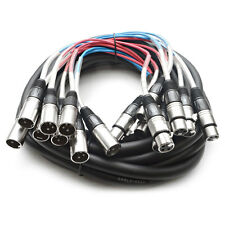 Seismic Audio 8 CHANNEL XLR SNAKE CABLE - 25 Feet Pro Extension Stage/Recording