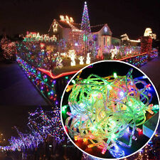 100 Led String RGB 10m 12v Christmas Curtain Fairy Light String Strip Decor #R