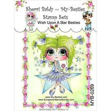 NEW My-Besties Clear Acrylic cling Rubber Stamp WISH UPON A STAR   Free US ship