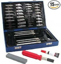 Hobby Knife Set 48 Piece Wood Carving Kit Scrapbook Model Making Building