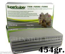 Super Sculpey Gris FIRM 454gr - Arcilla Masilla Profesional Manualidades