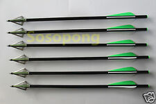 6 Pcs Crossbow Arrows Bolts + 6pcs 3-blade Sharp Hunting Broadheads For Hunting