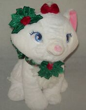 Disney Stores Aristocats Marie Christmas Bow Holly Collar