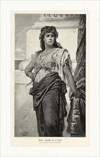 Medea A. Sichel Griechische Mythologie Frauenbild Antike Epik Holzstich A 0145