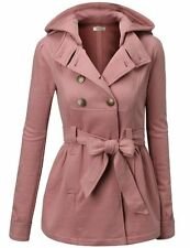 *NEW* J.TOMSON Womens Double Breasted Pea Coat With Belt M FREE SHIPPING~NO TAX