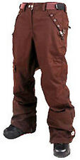 Sessions Switch Pants Womens Waterproof Snowboard Ski Recco Brown S
