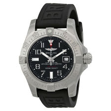 Breitling Avenger II Seawolf Automatic Black Dial Black Rubber Mens Watch