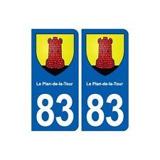 83 Le Plan-de-la-Tour blason autocollant plaque stickers ville droits