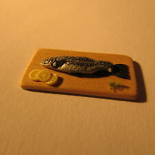 Dolls House Food~Fish on a platter~Miniature 1/24 scale~