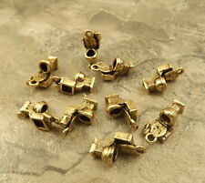Set of 10 Gold Tone Pewter TOILET Charms - 0264