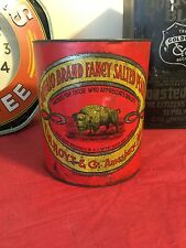 Antique Buffalo Brand Fancy Salted Peanut Tin Advertising Can Country Store