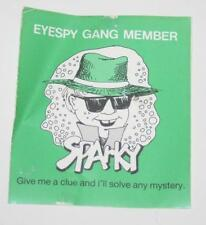 Retro Sticker - Eyespy Gang Member - Sparky  Give me a Clue and ill save any Mys