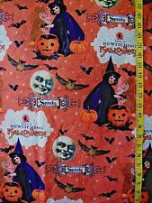 SPOOKY BEWITCHING  HALLOWEEN  PRINT 100% COTTON FABRIC BY THE 1/2 YARD