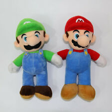 2 Pcs/Set Super Mario Bros Mario Luigi Soft Plush Stuffed Doll Toy Xmas Gift