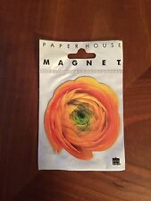 "RANUNCULUS FLOWER MAGNET Paper House Productions New Free Ship 3"" X 2 3/4"""