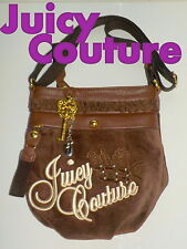 "Fabulous ""JUICY COUTURE"" Brown Velour Small Cross-Body Bag   £99  NEW"