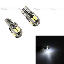 2x 8 SMD LED White Bulb Error Free T10 W5W 194 Car Clearance Side Light Lamp 12V