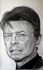 David Bowie - portrait ritratto grafite e carboncino cm. 75 x 120
