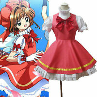 CARDCAPTOR SAKURA Pink Fluffy Dress With Hat Cosplay Costume