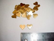Small Brass Heart Shaped Jewelry Findings - 36 pieces