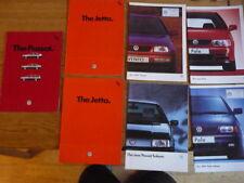 VW VOLKSWAGEN CAR BROCHURES - GROUP OF 7 jm