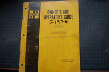 HYSTER C530A ROLLER COMPACTOR 1978 Owner Operator Manual book guide operation