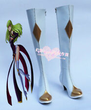 Code Geass C.C. Halloween White Long Cosplay Shoes Boots H016