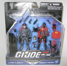 G.I.JOE 50th ANNIVERSARY: LOW-LIGHT vs. NIGHT-VIPER