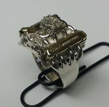 """289-302 Ford Power  """"Ford Motorsport"""" Mens Engine Ring Jewelry  Size 10.5"""
