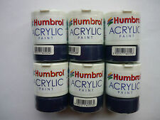 6 X HUMBROL ACRYLIC PAINTS CHOOSE ANY 6 X 12ml POTS FROM LISTING