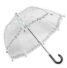 Musical Symphony Rock And Roll Note Trim Clear Dome See Through Bubble Umbrella