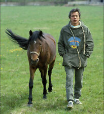 Alain Delon UNSIGNED photo - G245 - With his horse!!!!